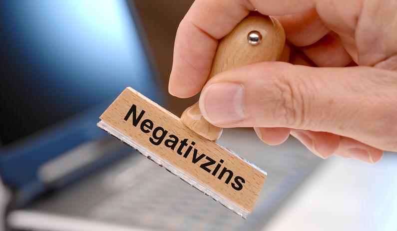 Hohe Negativzinsen